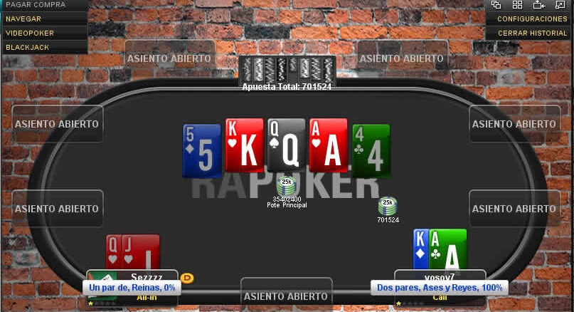 poker pesos mesa final rapoker